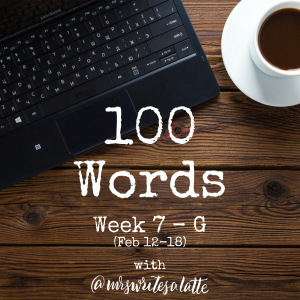 Button 100 Words- Week 7 with Mrs. Writes a Latte